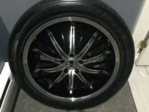 20x8.5 Rims with tires