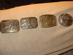 vintage brass belt buckles