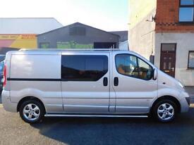 Vauxhall Vivaro 2.0CDTi 115 sportive LWB 6 seat factory fitted crew cab van (9)