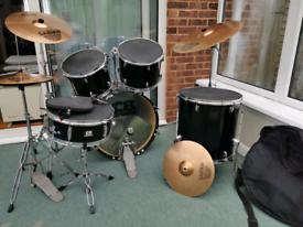 CB Drums Drum Kit Sabian Cymbols Pratice Pads and Bag