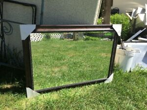 Large Framed Decorative Mirror For Bathroom Vanity Or Room