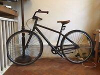 SPECIALIZED GLOBE Single Speed Bike Bicycle - tan leather saddle, Brooks handlebars, new tyres