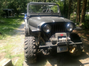 "1983 Jeep CJ7 Lifted, 35"" Super Swampers, ARB Air Lockers"