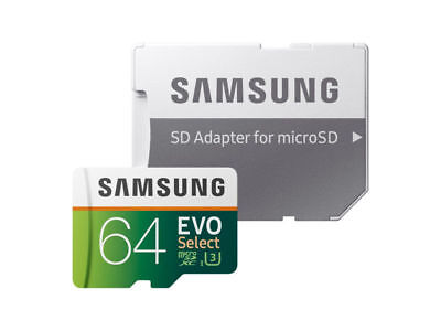 Samsung 64GB 100MB/s  MicroSD EVO Select Memory Card with Ad