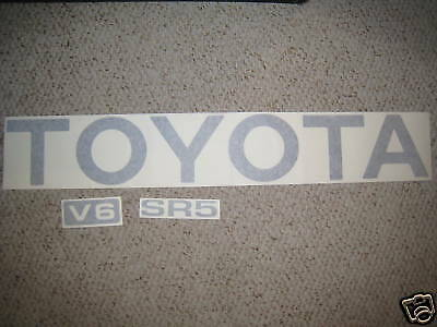 TOYOTA TRUCK TAILGATE LOGOS DECAL 89-95 SILVER pickup ()