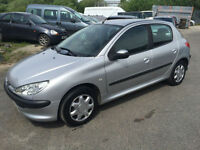 2004 PEUGEOT 206 1.1 8V SILVER A/C MOTED **63,000 MILES**