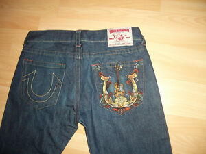 "JEANS "" True Religion """" -- near NEW -- straight-- size 36/38"" w"