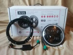 """Single"" 8700 Evolution 2, 7"" LED Motorcycle Headlight - $200"