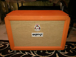 Orange PPC212 loaded with hand made Ted Weber 1265 speakers