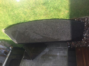 Black galaxy granite counter top finished