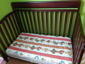 3 in 1 crib (crib, toddler bed, double bed)