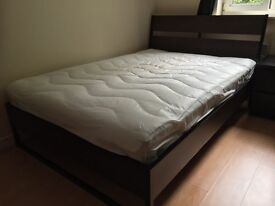 IKEA Trysil Double Bed & Hamarvik Mattress- Excellent Condition