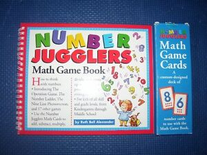 Math Books - Hands on Equations for Kids, Card Games, Singapore