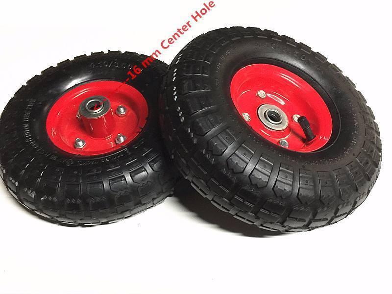 "New 2pcs 10/"" Pneumatic Sack Truck Trolley Wheel Barrow Tyre Rubber Tyres Wheels"