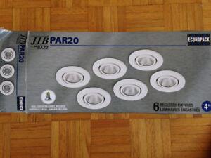Lumières encastrées - paquet de 6