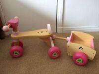 Wooden trike and trailer - ELC