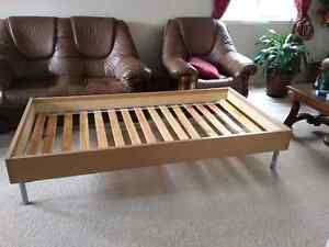 Single bed frame and mattress - Sold pending for pickup Cambridge Kitchener Area image 1