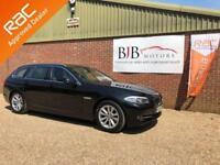2013 13 BMW 5 SERIES 2.0 520D SE TOURING 5D AUTO 181 BHP DIESEL BLACK 67K