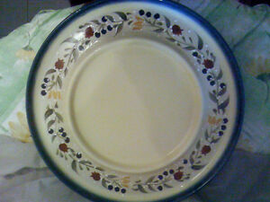 "HUGE! 16"" round,landis international, platter and metal stand"