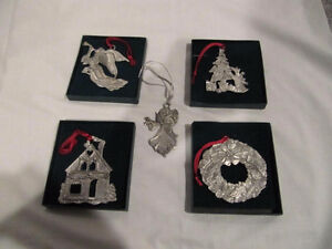 Collectible Seagull Pewter Christmas Ornaments (Lot of 5)