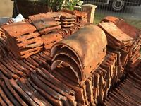 Reclaimed handmade clay roofing tiles