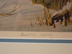 "Peter Robson, Sparta, Elgin Co. - Artist Proof ""Awaiting Spring"" London Ontario image 4"