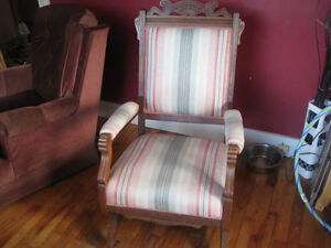 Antique Victorian Platform Rocker