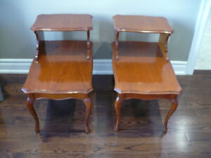Antique 2 piece telephone side tables