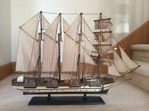 Handcrafted Wood Ship Model with lots of detail