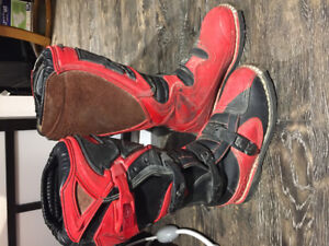Motocross pants and boots