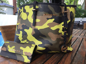 Michael Kors camo purse at wallet