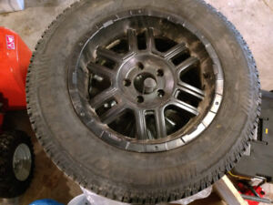 Winter Tires (Arctic Claw) - with Rims (Black)