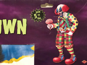 Scary 5.5 Foot Jointed Zombie Clown New in Package Only ~ $7