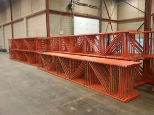 "Redi Rack Frames 38"" deep x 20' tall - used pallet racking"