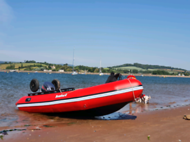 Bombard Inflatable Boat Aerotec 3.8 and 15hp Mariner Outboard 2 stroke