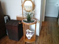 VINTAGE WASH STAND WITH PITCHER AND BASIN