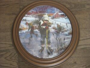 """Dreams of Glory"" collector plate in frame 1986 limited edition"