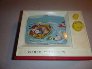 Fisher Price Vintage TV Plays London Bridge & Row Your Boat 1966
