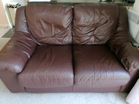 Leather sofa's