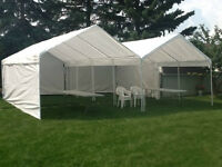 Shelter Logic canopy with enclosure Tents (Weddings/Parties)