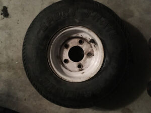"Two carlise 8"" trailer tires"