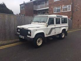 Land Rover 110 Defender 2.5 TDi County 9 Seater White 1998