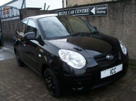 10 60 KIA PICANTO 1.0 5DR £30 FOR 1 YEARS TAX LOW INS LEATHER STYLE SEATS
