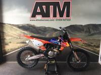 KTM SXF450 2016 MOTOCROSS BIKE, REDBULL DECALS, CLEAN OEM BIKE (ATMOTOCROSS)