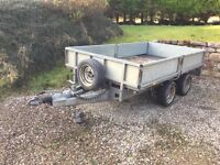 Ivor Williams 2 ton drop side trailer with ramps