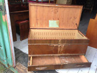 Antique Honderich Red Seal Cedar Chest
