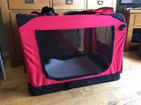 Dog fold up soft carry crate