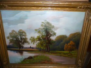 "Original Oil Painting ""Early Summer Path"" Vintage Early 1900's"