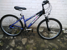 LADY'S RALEIGH MOUNTAIN BIKE ALUMINUM FRAME FRONT SUSPENSION RIDE AWAY