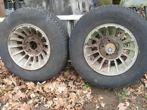 Pair of Carrol Shelby Turbine aluminum wheels, sell or trade London Ontario image 1